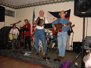 Garry playing squeezebox with the Midway Ramblers