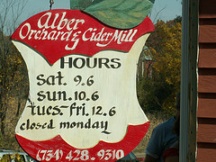 Alber Orchard sign