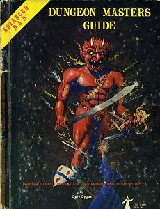 The Dungeon Master's venerable, well-used DM Guide