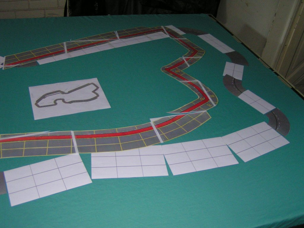 The new track outline is smaller than the old track outline.