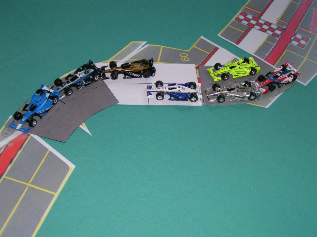 Cars on template sections.
