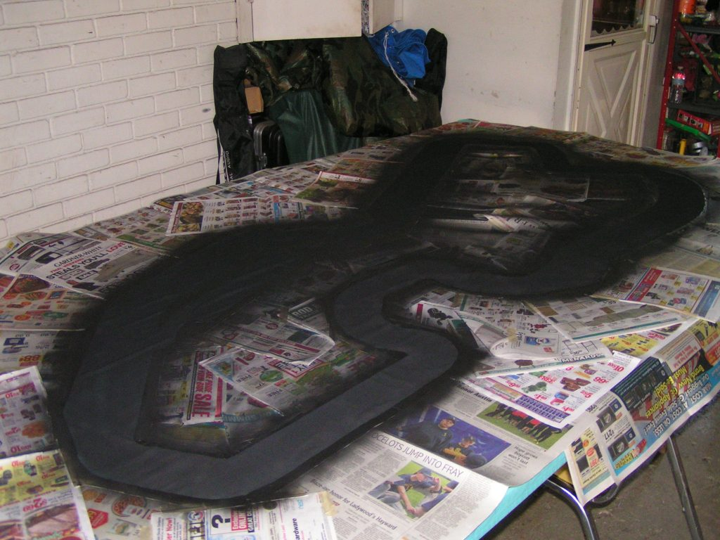 The track after several coats of paint.