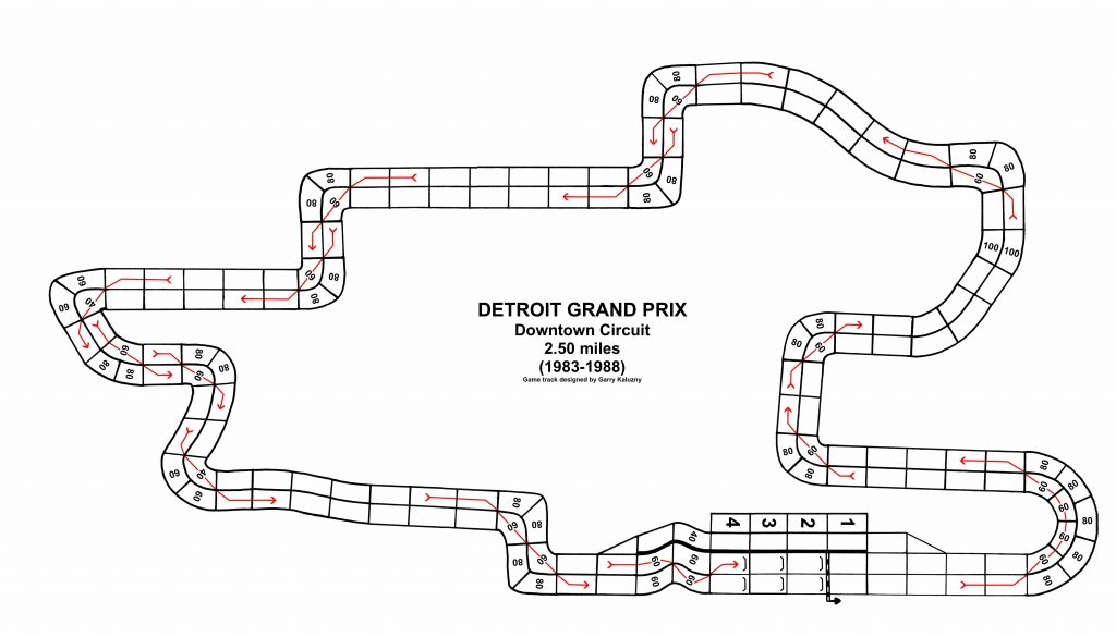 Downtown Detroit track suitable for use with Championship Formula Racing.