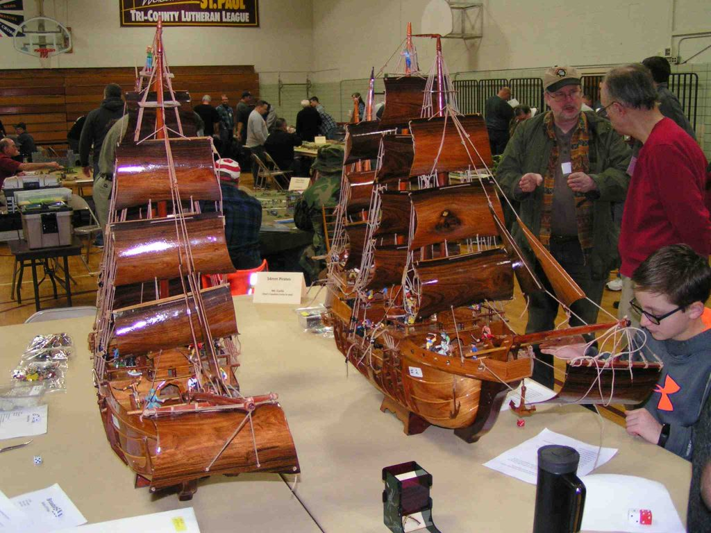 Captain Curtis' large-scale pirate ships