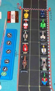 The starting grid for the German Grand Prix