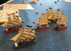 Close Action with 1:900 scale ships