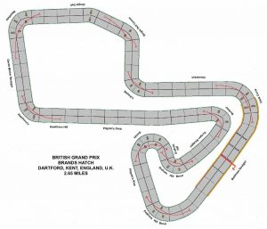 The modified Brands Hatch track