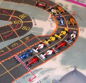 The starting grid at Brands Hatch